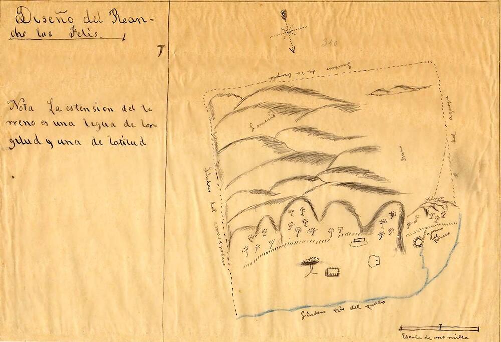 Hand-drawn diseño for the Rancho Los Feliz