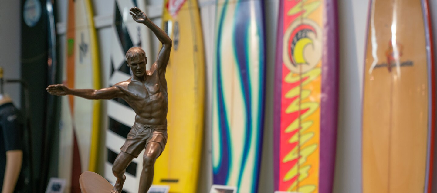 Displays at the Surfing Heritage & Cultural Center | Katie Noonan