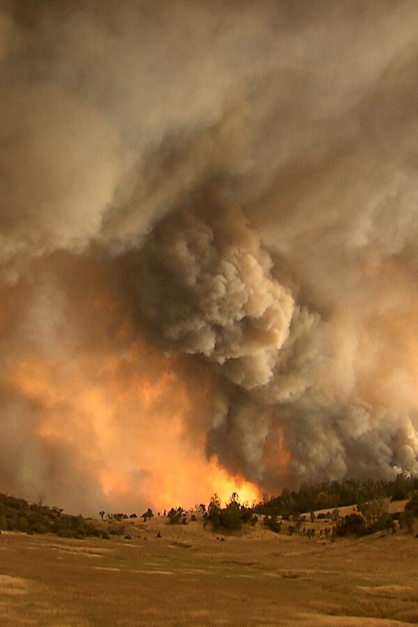 """Smoke from wildfires engulfs the valley. 