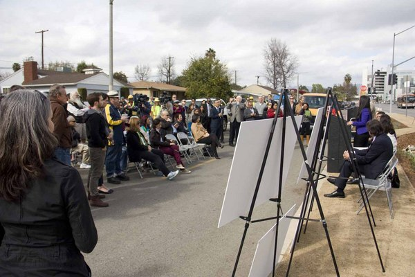 Woodman Median opening was a well-attended event