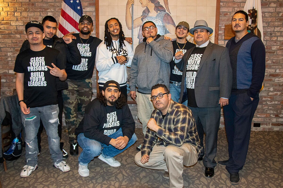 Daniel Mendoza with other members of Communities United Through Restorative Youth Justice (CURYJ)   Courtesy of Daniel Mendoza