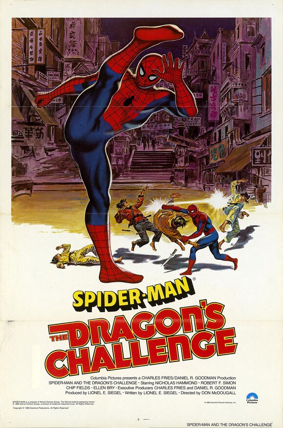 "American poster for ""Spider-man: The Dragon's Challenge (1981)"" 