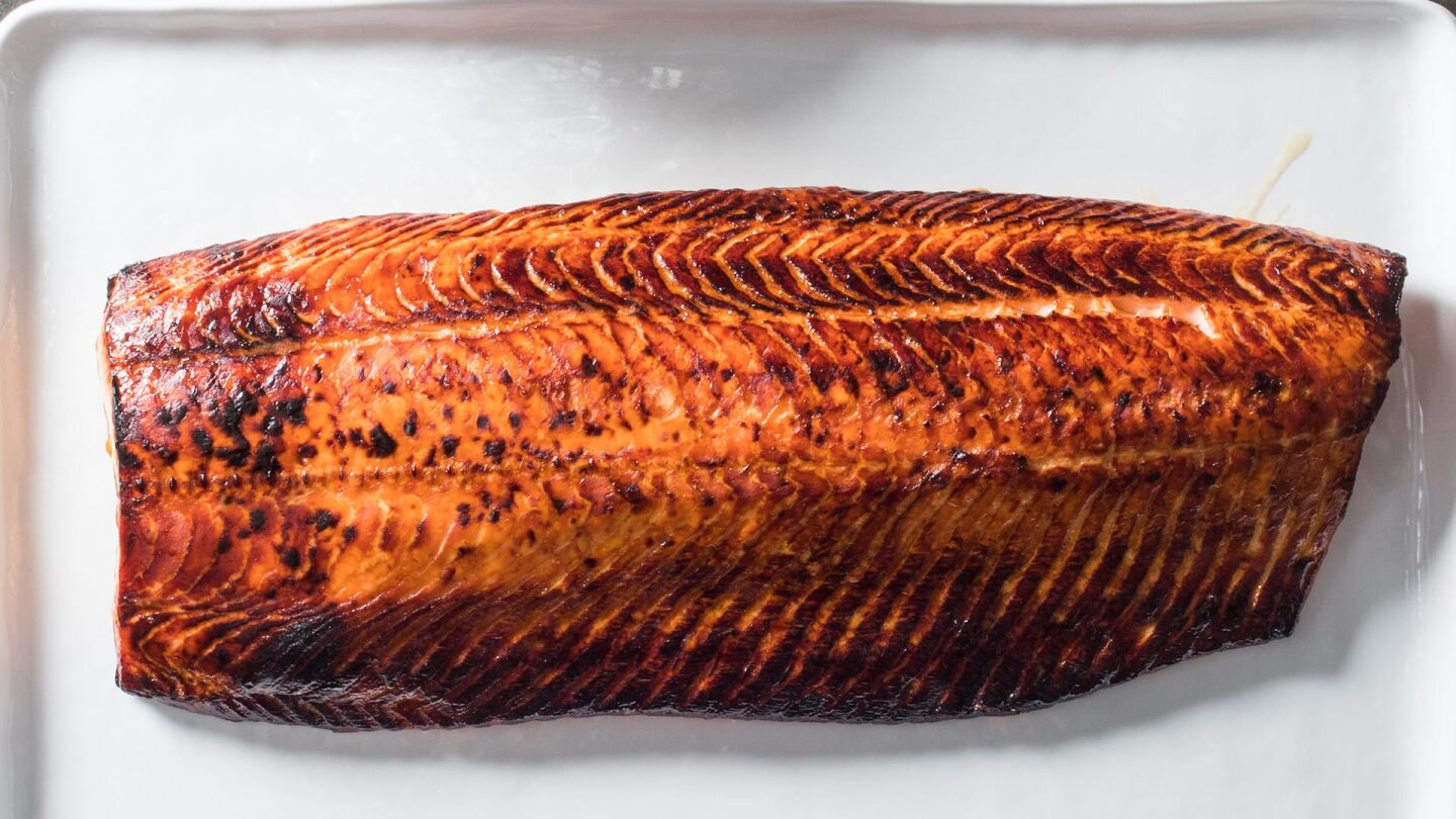 roasted whole side salmon