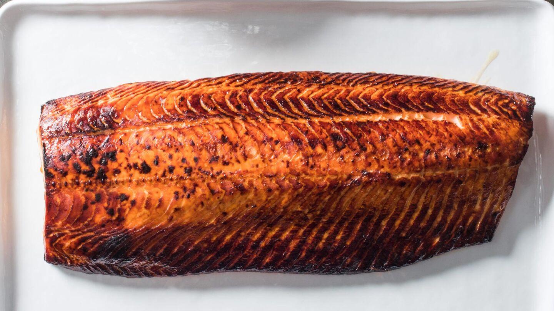 roasted whole side salmon