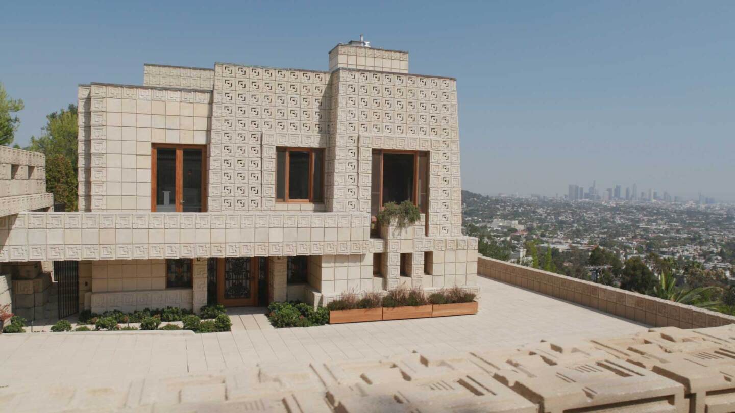 Ennis house still from Frank Lloyd Wright AB s9 1920 1080