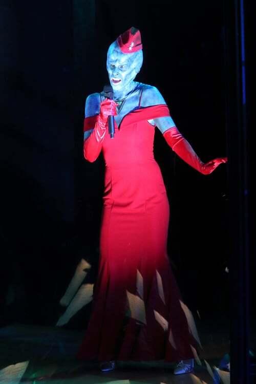 """War of the Worlds"" performance with Hila Plitmann as La Sirena.   Craig T. Mathew of Mathew Imaging"