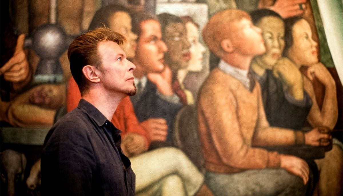 """""""Immersed in Study 1,"""" Diego Rivera's mural """"Man Controller of the Universe,"""" Palace of Fine Arts, Mexico City, 1997.   Fernando Aceves, 2007"""