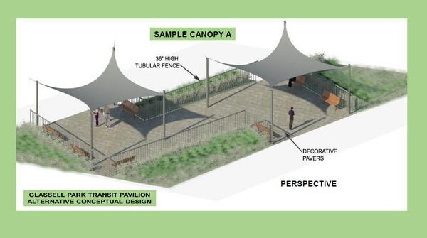 City alternatives to the Glassell Park transit pavilion
