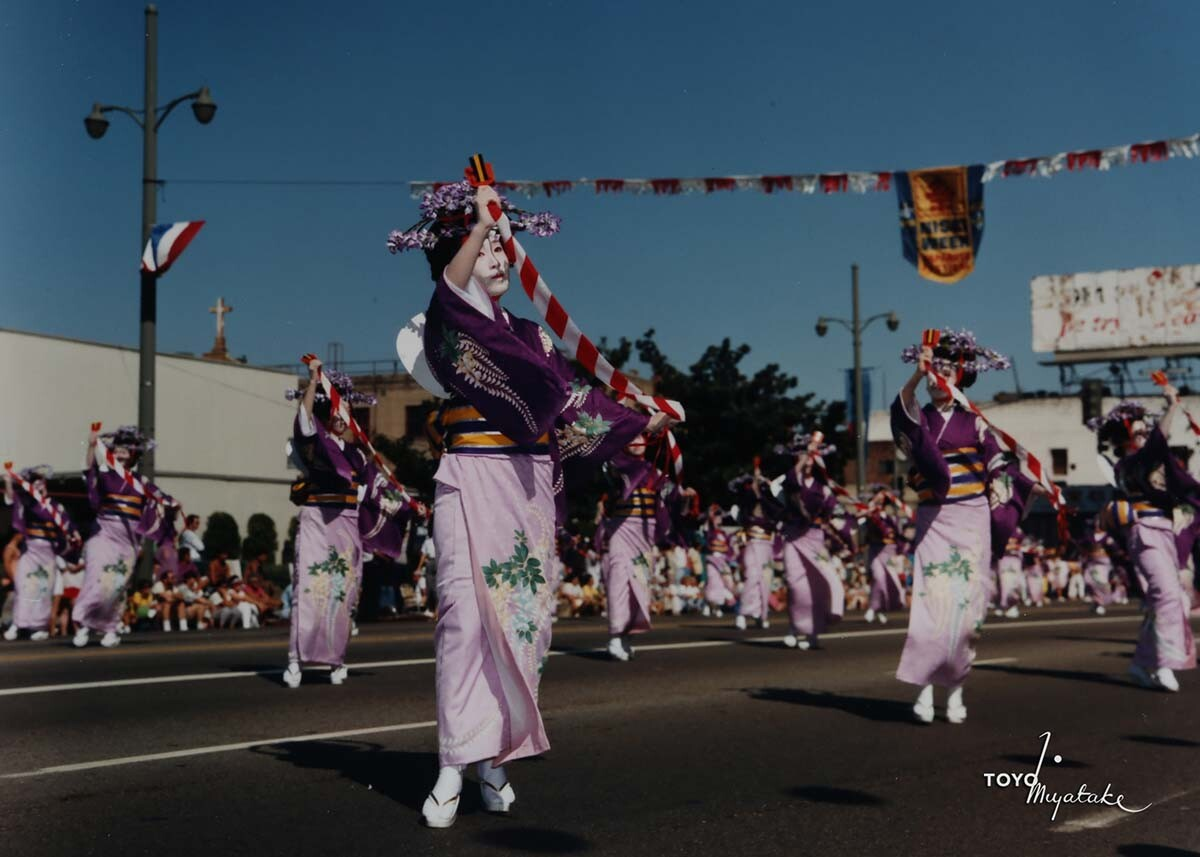 The 1986 Nisei Week Parade   Courtesy of Toyo Miyatake Studio