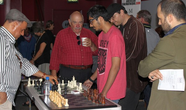 Members of the LA Chess Club and Metro Chess LA before the screening