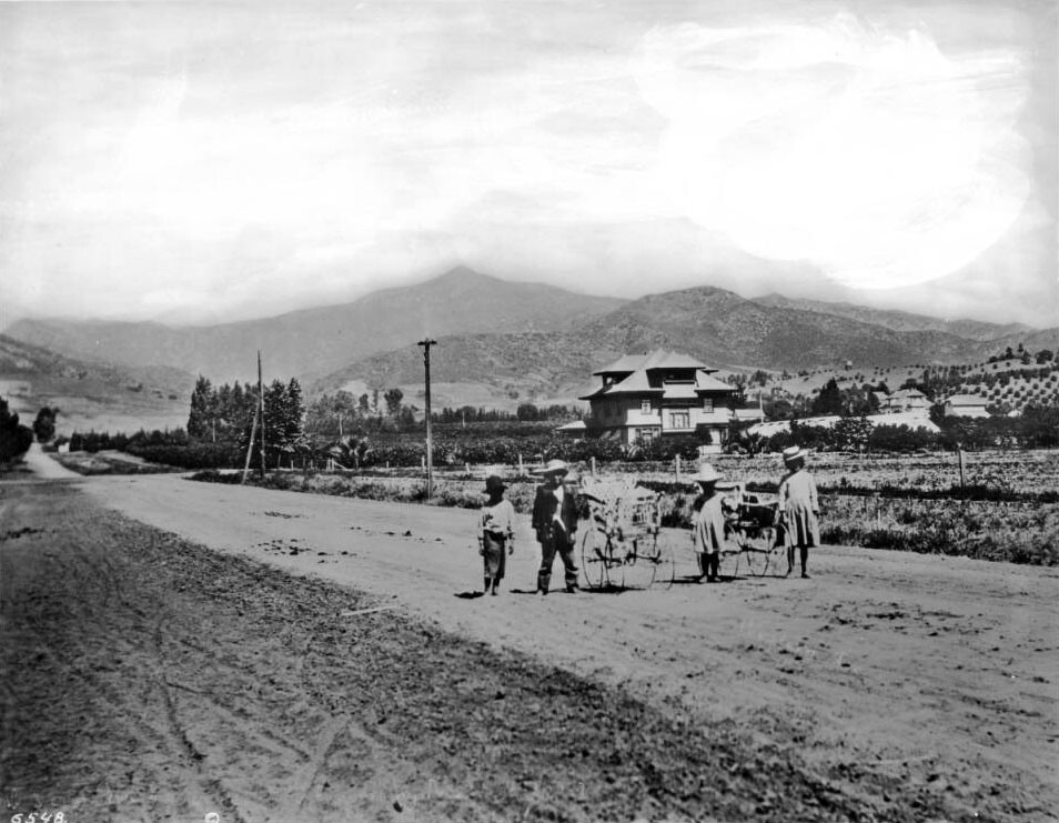 Children play on Western Avenue south of Sunset, circa 1906. Courtesy of the Title Insurance and Trust, and C.C. Pierce Photography Collection, USC Libraries.