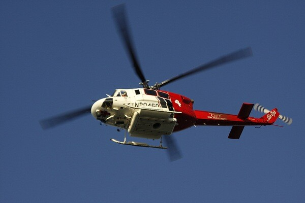 An LAFD Helicopter