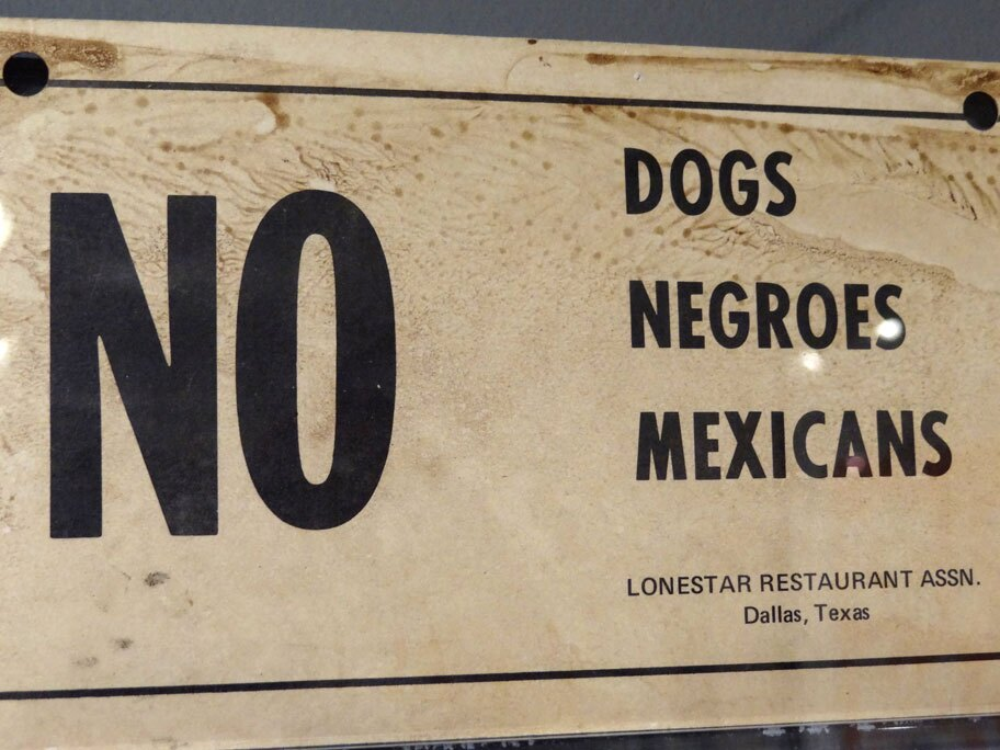 """NO dogs, Negroes, Mexicans"""