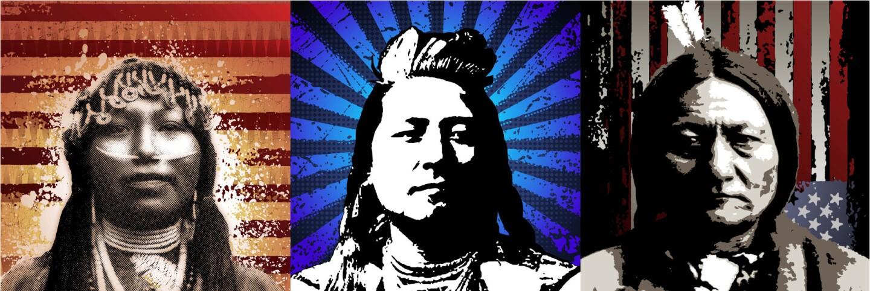 Work by Native American artist Votan Henriquez (banner)