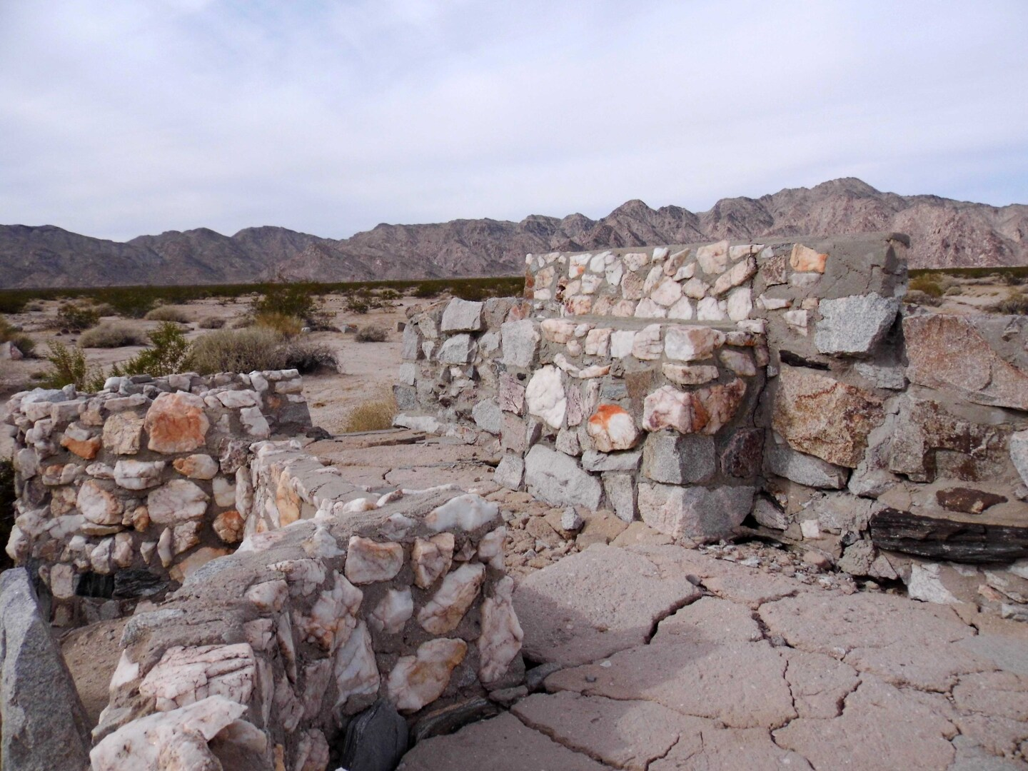 A Protestant altar at Camp Iron Mountain in the Mojave Trails National Monument.