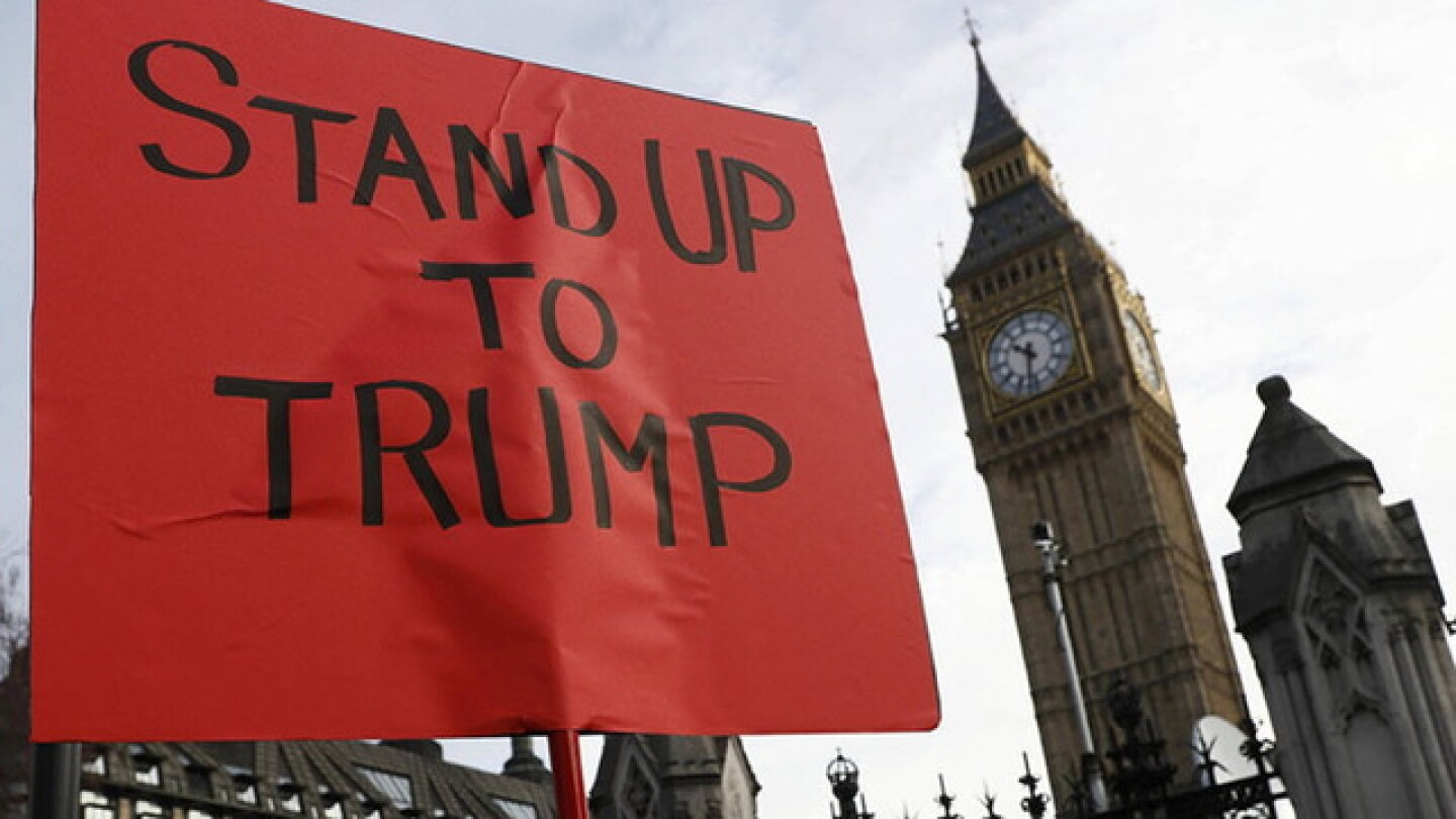 Anti-Trump Protests Erupt Across Britain