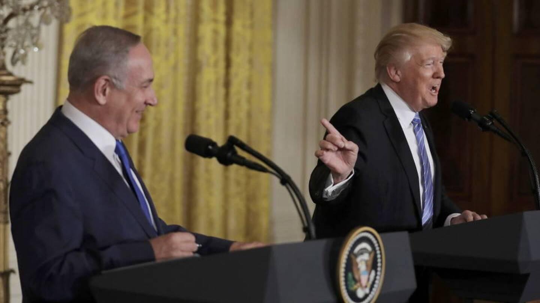 Benjamin Netanyahu and Donald Trump
