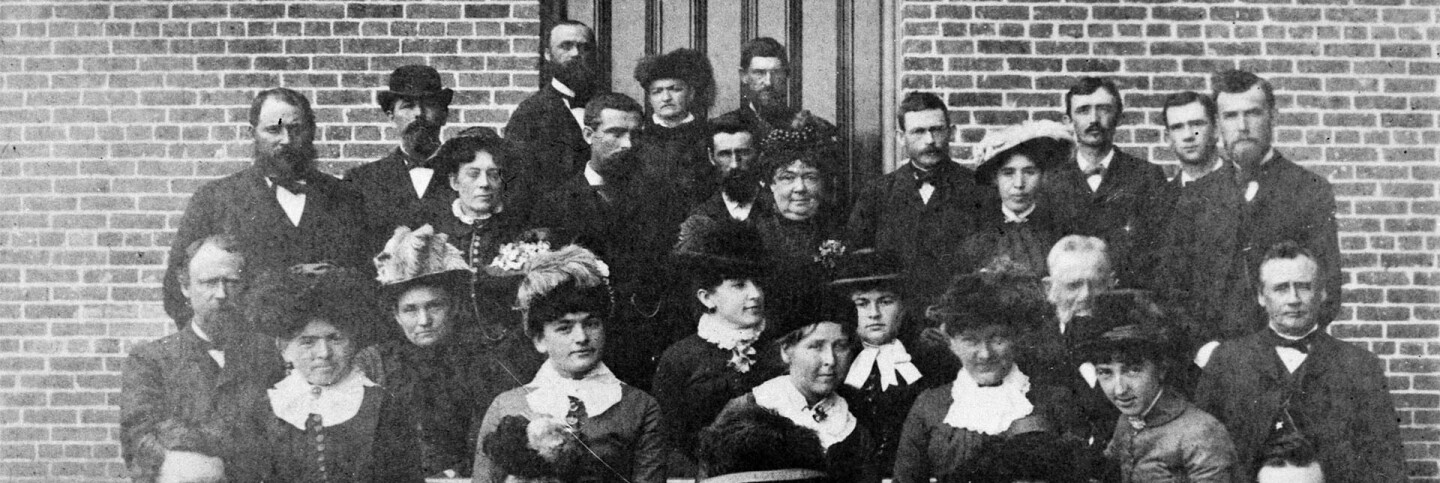 State Normal School faculty and pupils, 1884