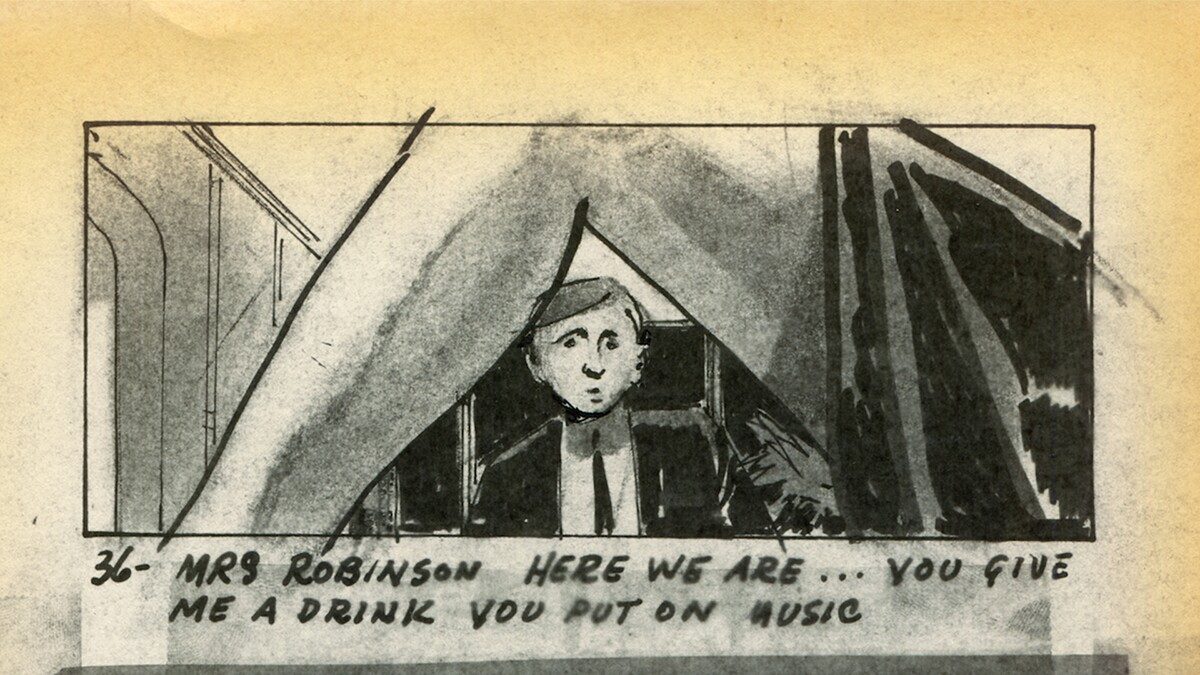 The Graduate storyboard image | Courtesy of Adama Films/ Zeitgeist Films
