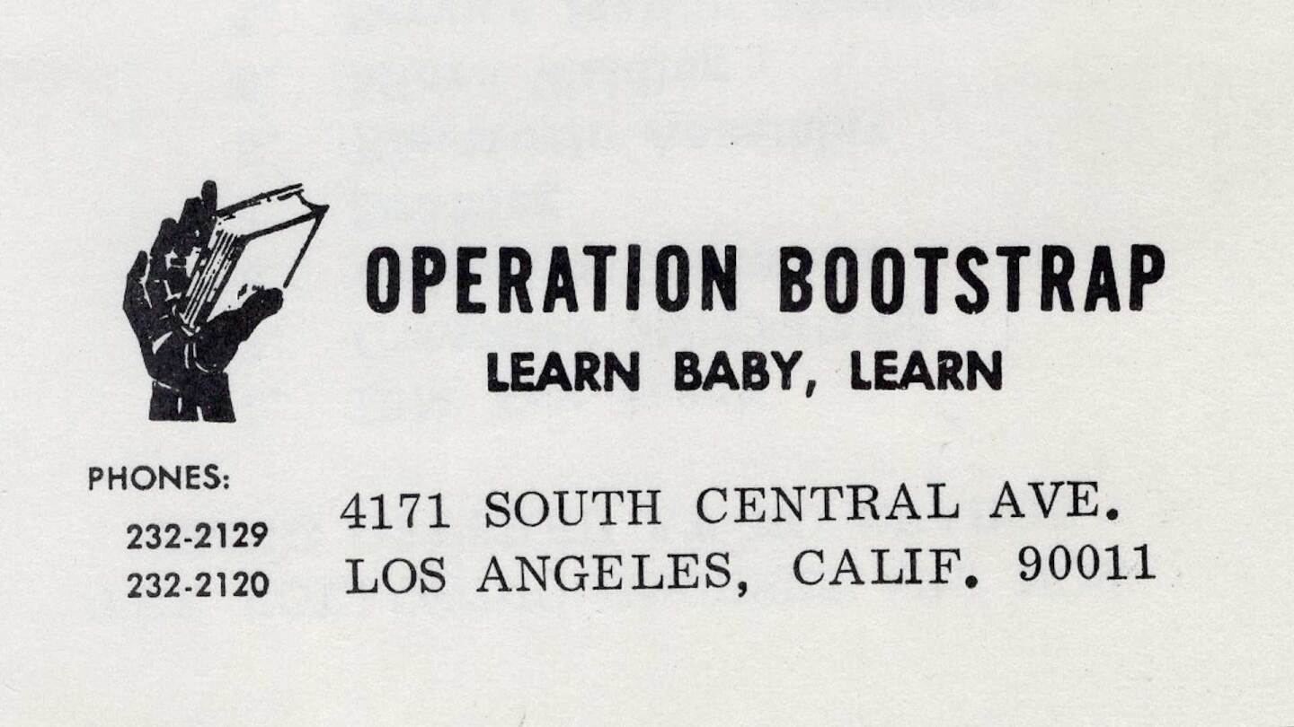 Operation Boostrap letterhead | Southern California Library