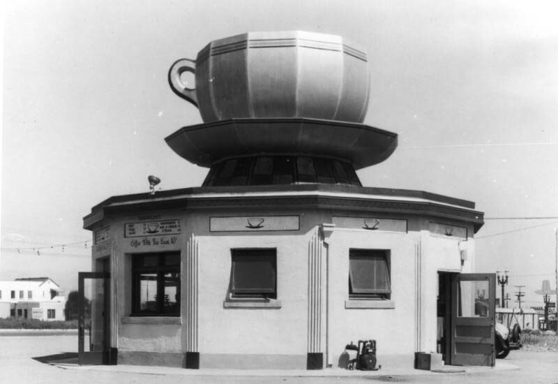 The Coffee Cup Café was located at 8901 Pico Boulevard | Photograph courtesy of Security Pacific National Bank Collection, Los Angeles Public Library