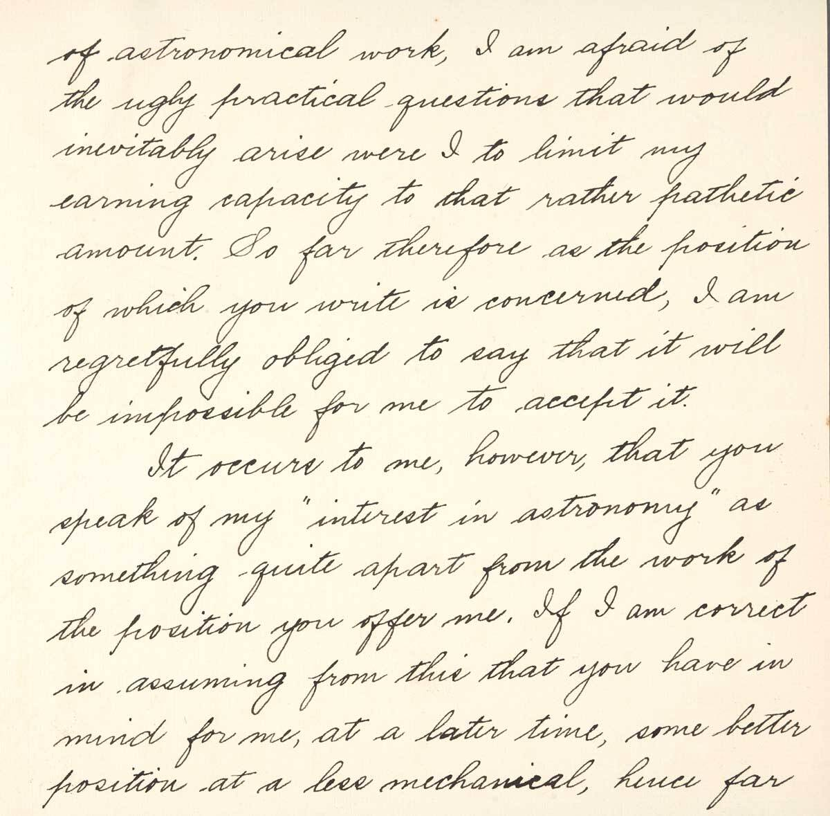 Letter from Betty Trier Berry to F.H. Seares of Mt. Wilson observatory p2 | Image courtesy of the Observatories of the Carnegie Institution for Science Collection at the Huntington Library, San Marino, California