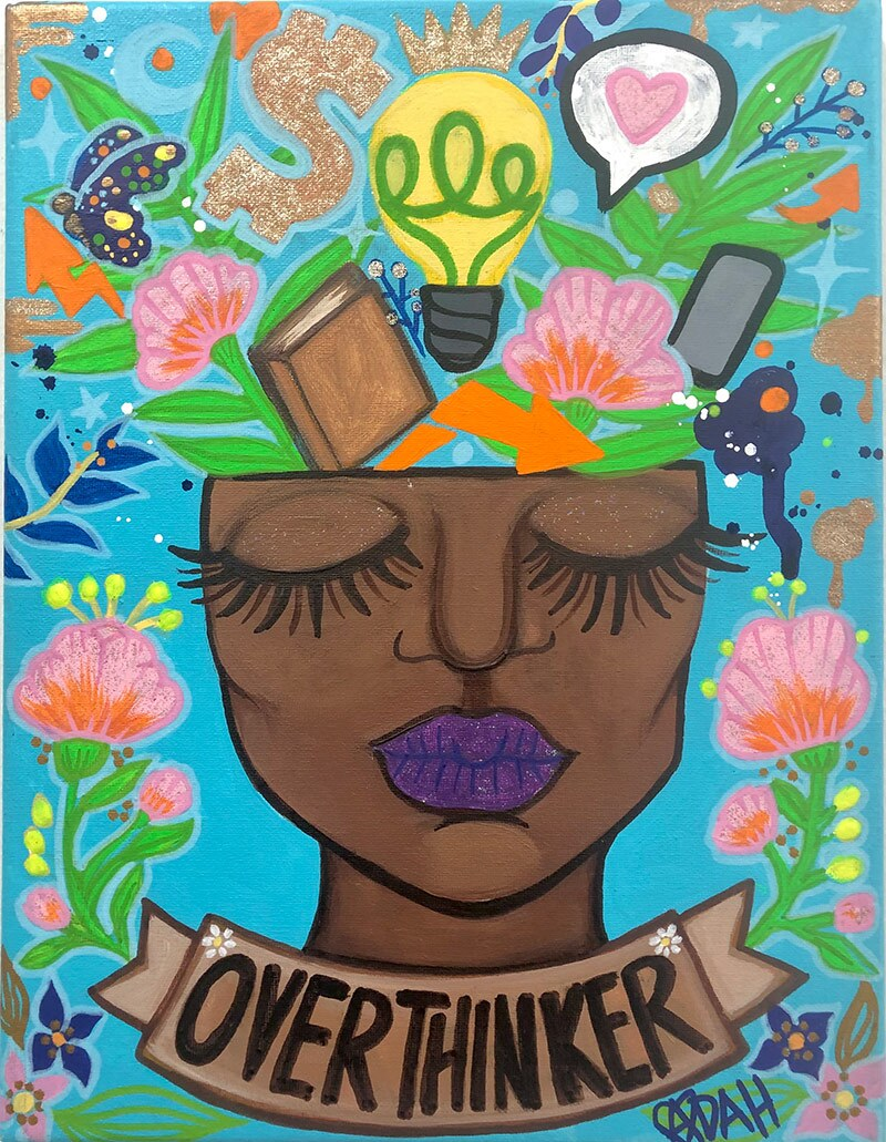 An artwork by Adah Glenn featuring a Black female figure. | Courtesy of Adah Glenn