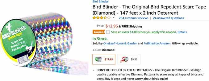 Bird Blinder screen shot. | Robin Kello