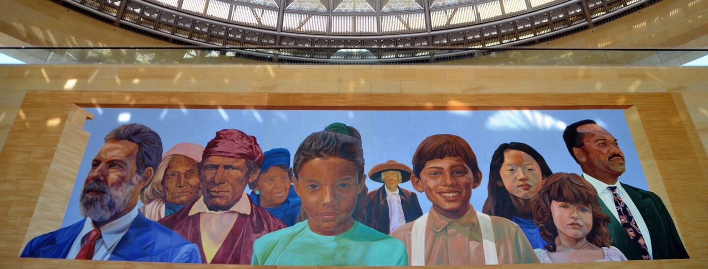 """""""City of Dreams/River of History"""" by Richard Wyatt and May Sun at Union Station (primary image)"""