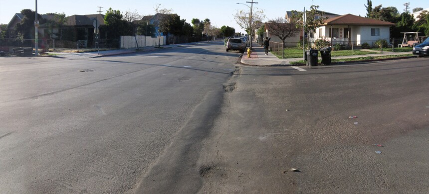 Boyle Heights - Pedestrian Street Improvements, Before