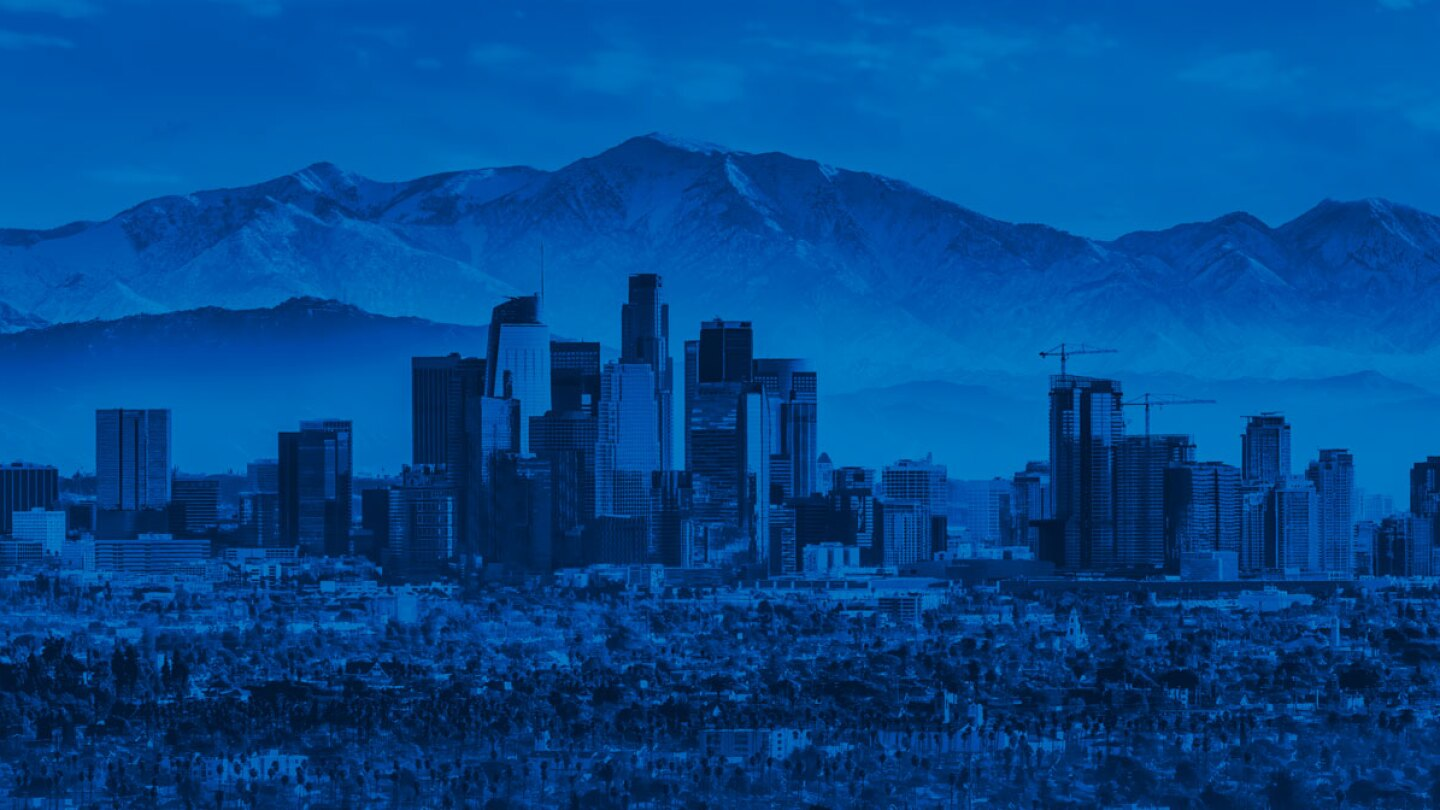 Los Angeles, Looking North with Blue Overlay