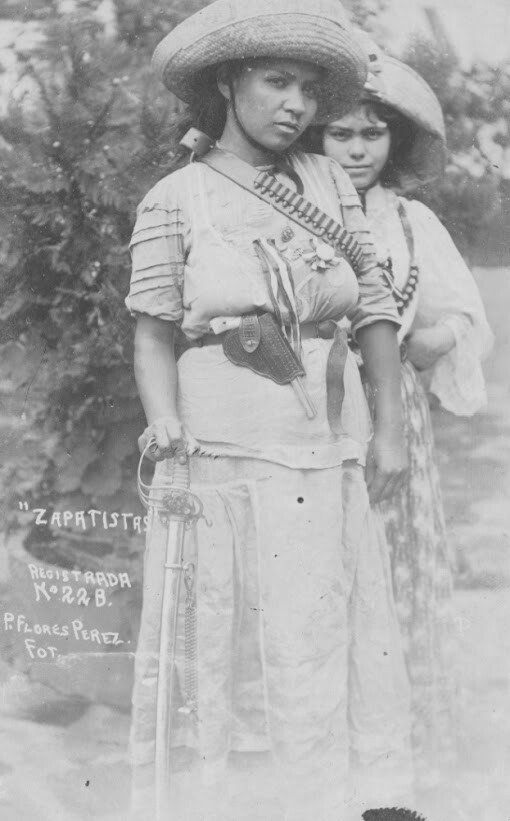 "P. Flores Perez, ""Zapatistas,"" n.d. Photographic postcard. Collection of Mexican Revolution photographs, m 025. UCR Library, Special Collections & University Archives, University of California, Riverside."