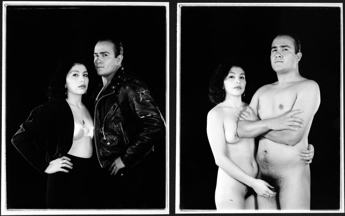 Laura Aguilar, Clothed/Unclothed #28 , 1994   Courtesy of the artist and the UCLA Chicano Studies Research Center. © Laura Aguilar No Tresspassing AB s9