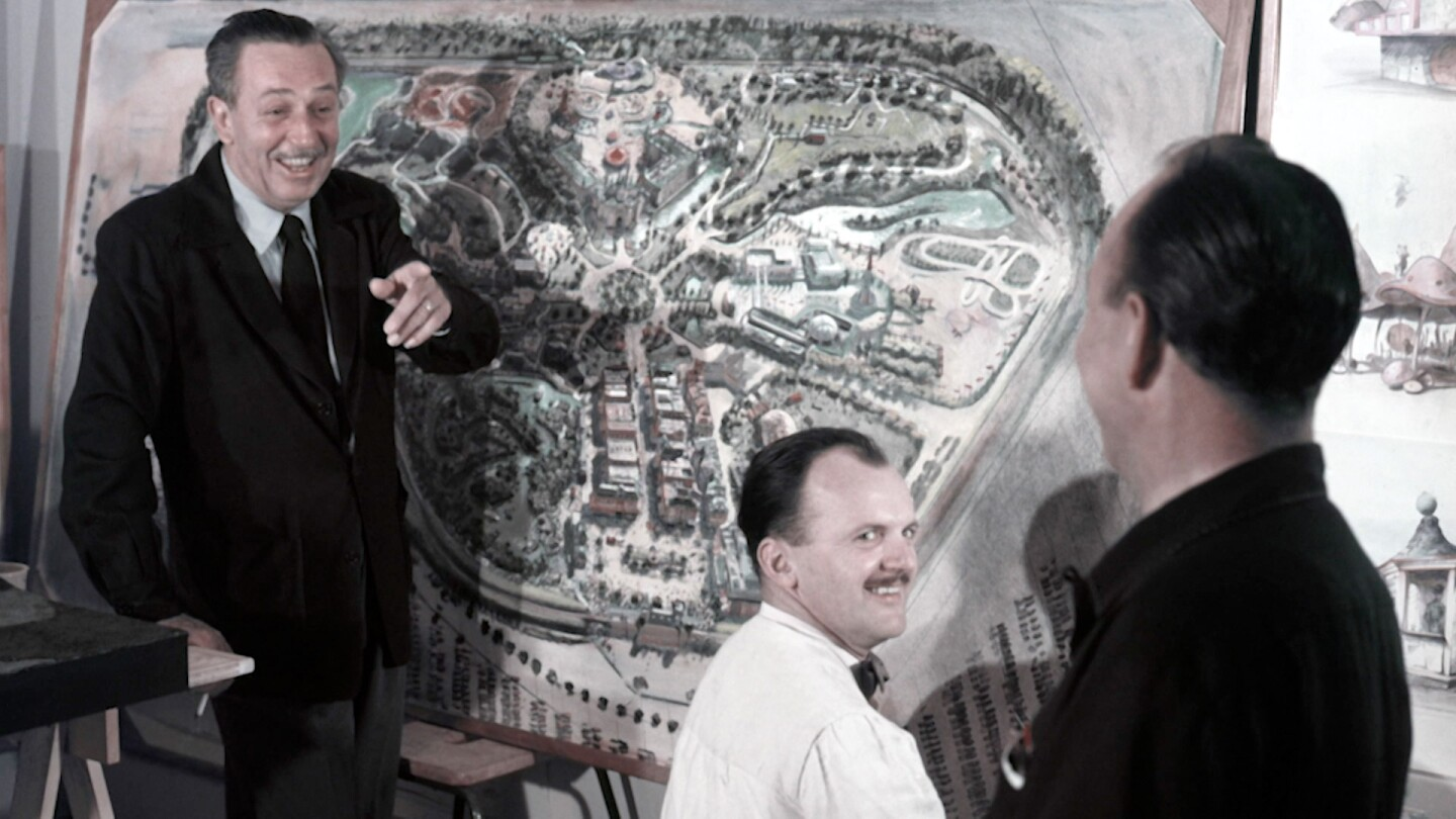 Walt Disney with a drawing for Disney theme park | Still from Lost LA Season 3 Fantasyland