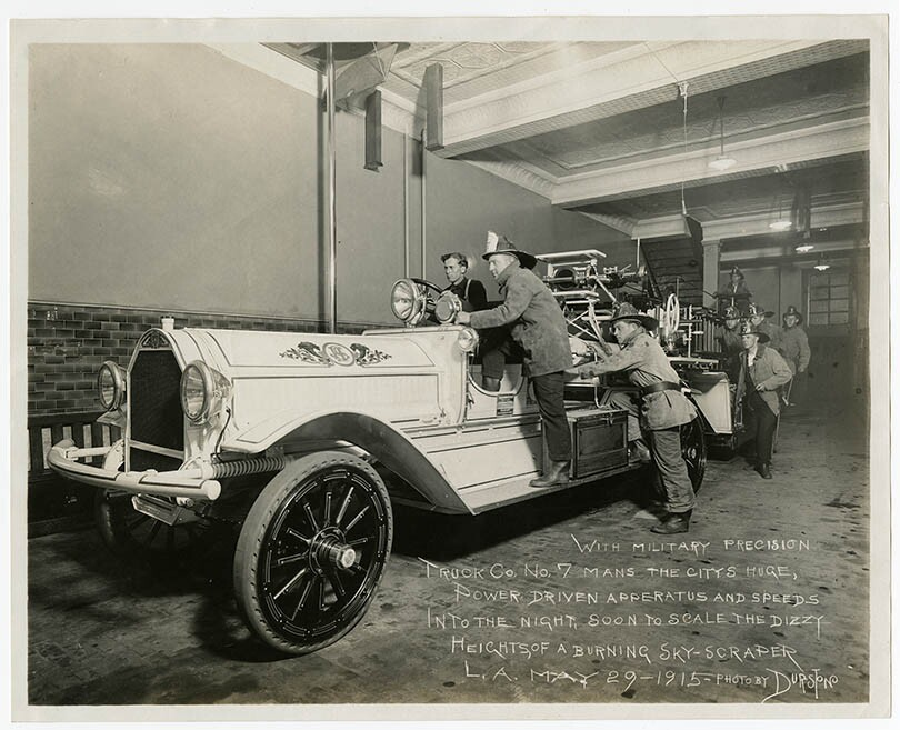 Los Angeles Fire Department photographs, 1912-1915, courtesy California Historical Society, PC19_06.