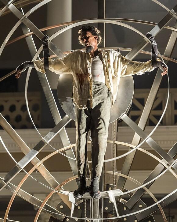 Ron Cephas Jones as Prometheus. Prometheus Bound at the Getty Villa. | Photo: © 2013 Craig Schwartz.