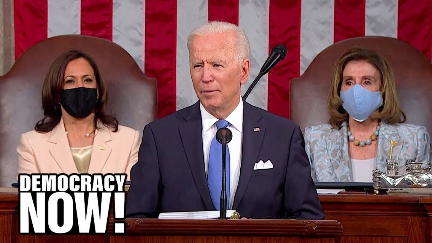 President Biden gives his first speech to a joint session of Congress.