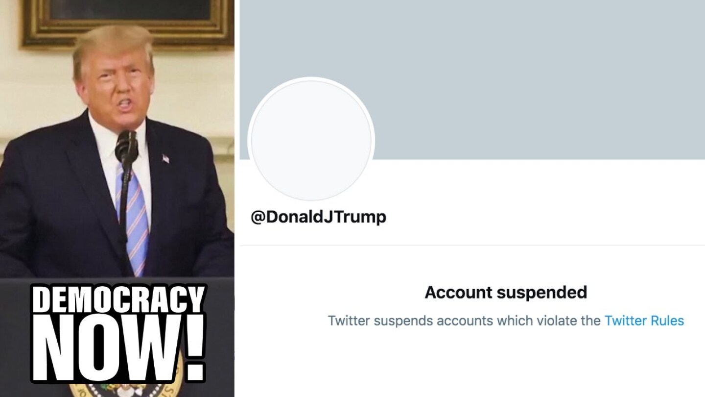 Donald Trump's banned Twitter account.