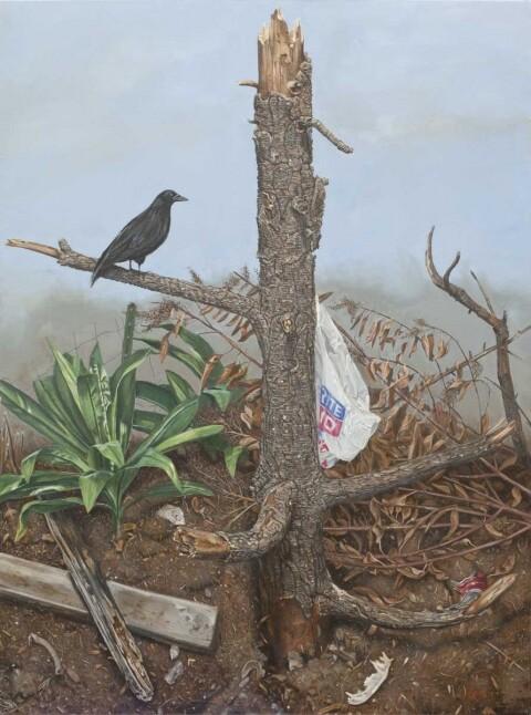 "Scott Marvel Cassidy, ""L.A. Landscape,"" 2013. Oil On Canvas. 4 x 3 1/2 feet."