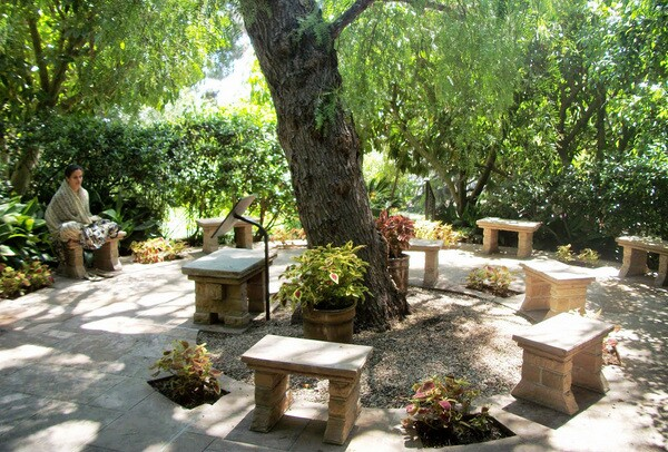 Yogananda would often teach in the outdoor ''Temple of Leaves'' | Photo: Hadley Meares