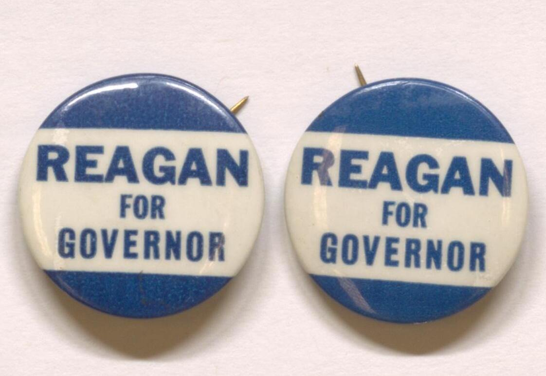 Reagan for Governor pins