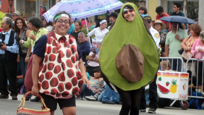 Lilybeth Hernandez in her avocado costume.