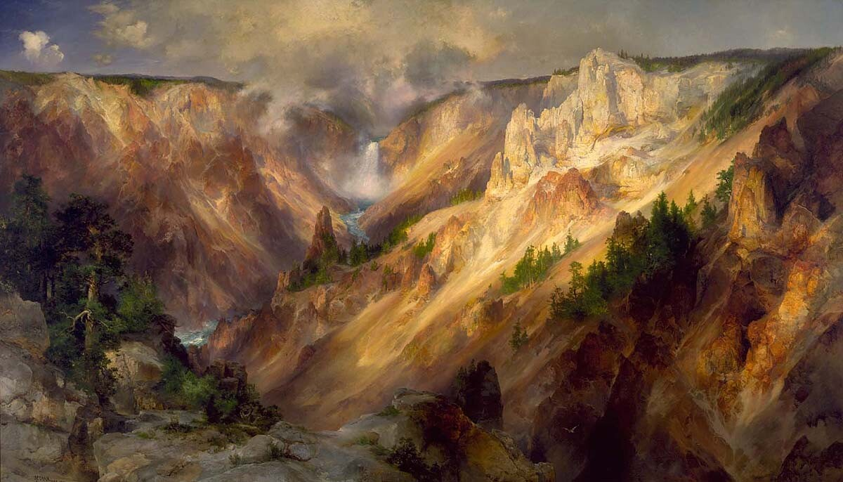 Thomas Moran: The Grand Canyon of the Yellowstone (1893-1901, oil on canvas) | Smithsonian American Art Museum, Gift of George D. Pratt