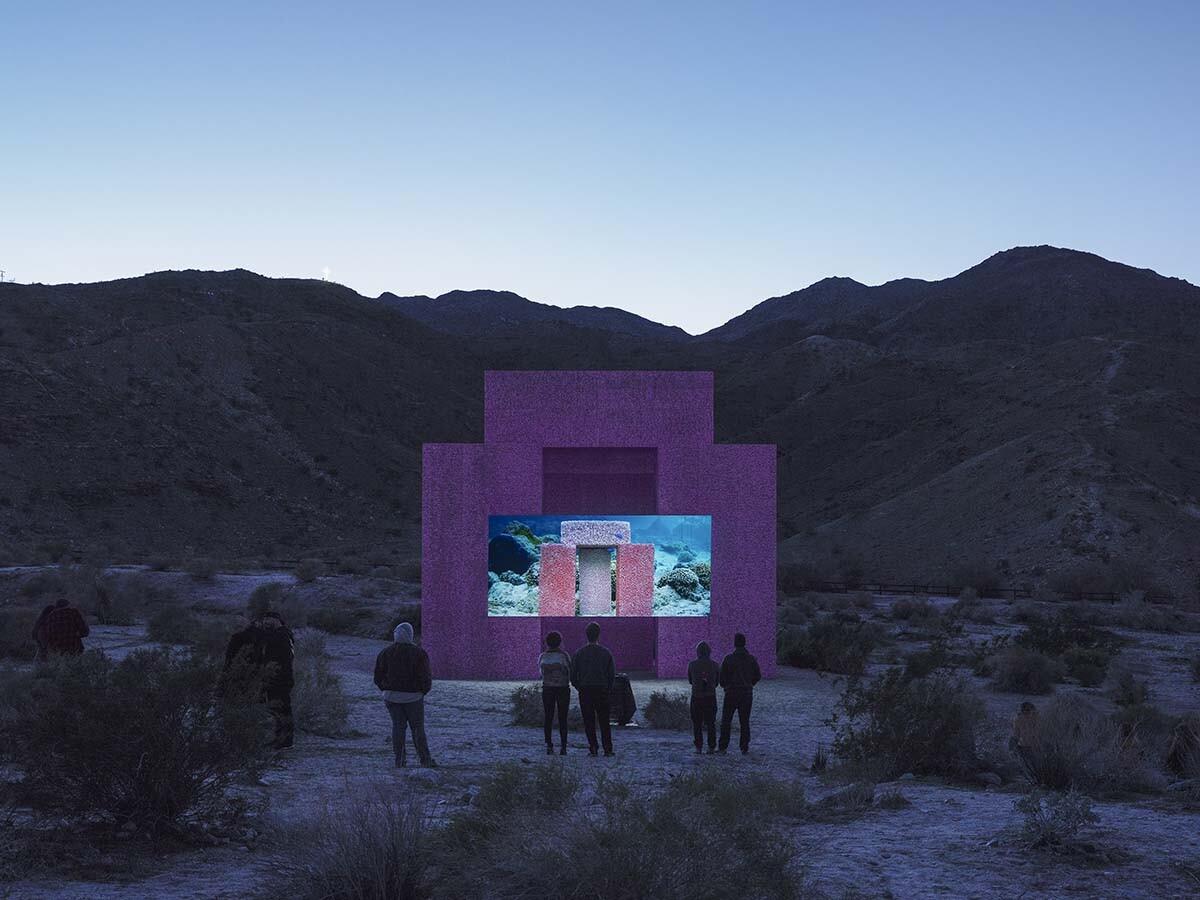Desert X installation view, Superflex, Dive-In, 2019   Lance Gerber, courtesy of Desert X
