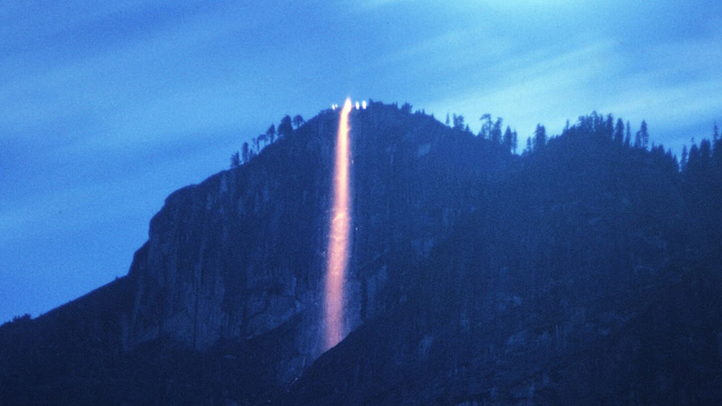 The Firefall at Yosemite National Park