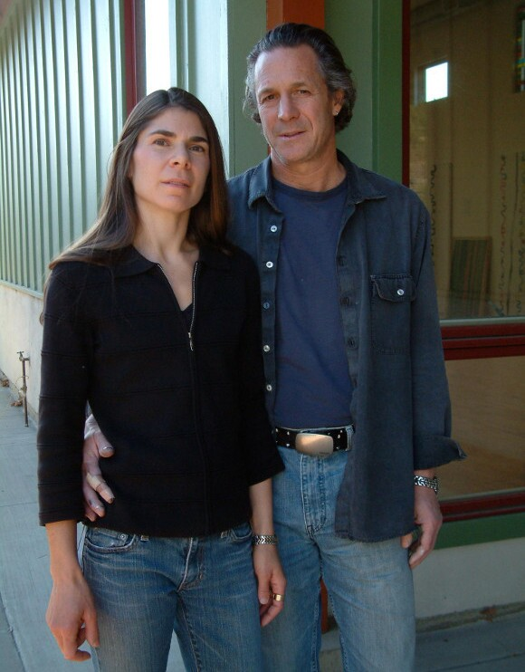 Portrait of Gary Lang and Ruth Pastine in front of their studios. | Photo: Christy Sisneros.