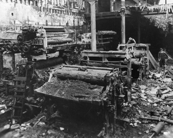 The press room after the bombing | Security Pacific National Bank Collection, Los Angeles Times
