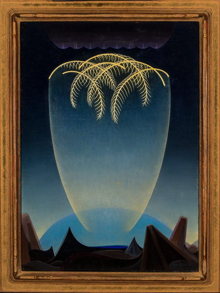 "Agnes Pelton, ""Messengers,"" 1932. Oil on canvas. 