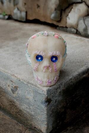 Sugar skull from Alex Espinoza.   Photo: Olivia Childers