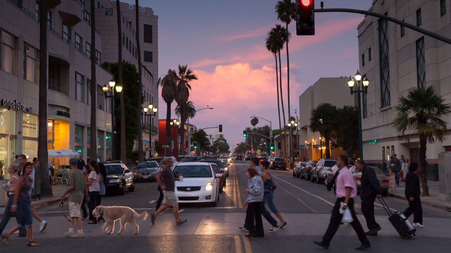 Santa Monica crosswalk